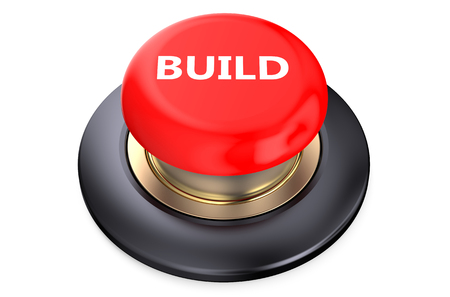 pushbutton: Build concept on red pushbutton