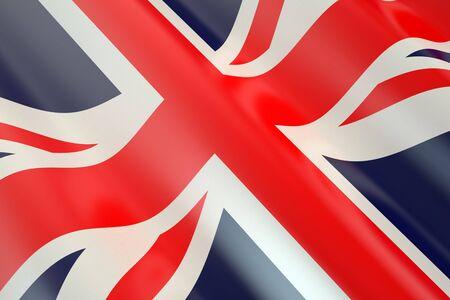 britannia: Flag of Great Britain  in the wind