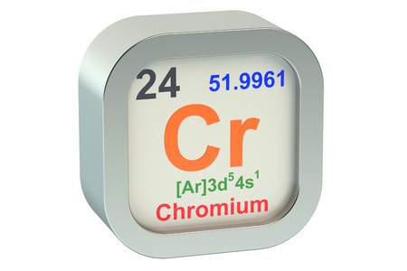 cr: Chrome element symbol  isolated on white background