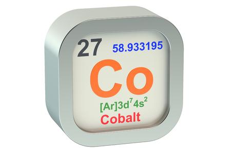 cobalt: Cobalt element symbol  isolated on white background