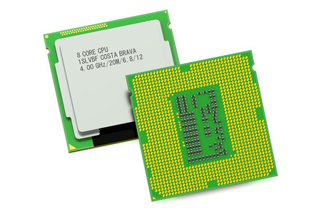 computer cpu: CPU computer processor unit  isolated on white background