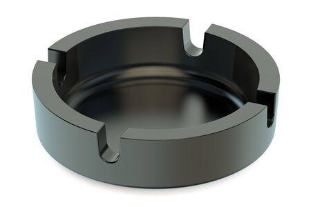 ashtray: Empty Ashtray isolated on white background