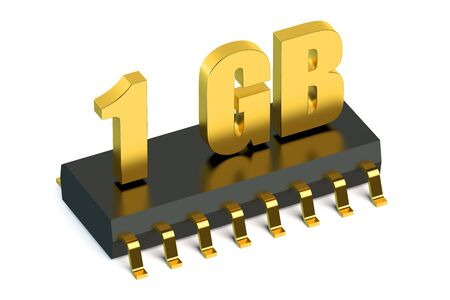 rom: 1 Gb RAM or ROM memory for smartphone and tablet concept Stock Photo