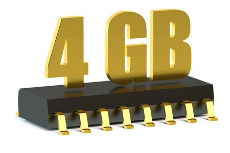rom: 4 Gb RAM or ROM memory chip for smartphone and tablet concept