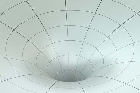 gray strip backdrop: Funnel abstract Stock Photo
