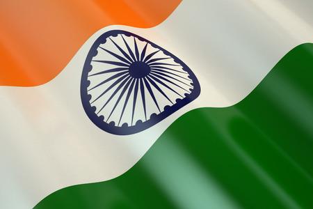 bandera blanca: Bandera de la India en el viento