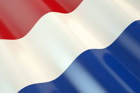 independence day: Netherlands flag in the wind