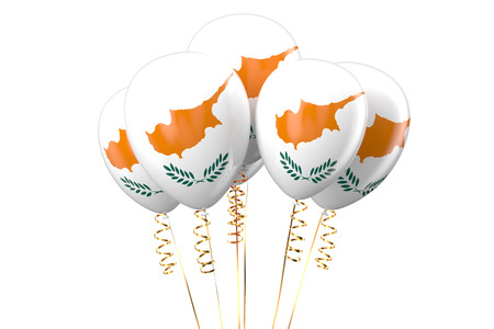 declaration of independence: Cyprus patriotic balloons, holyday concept