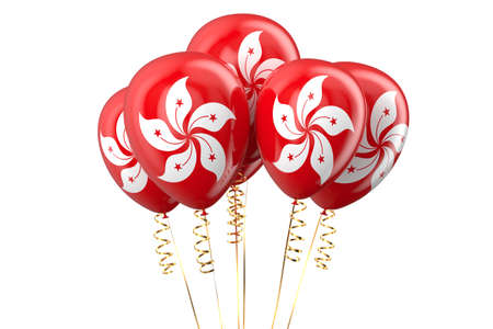 independence day: Hong Kong patriotic balloons, holyday concept Stock Photo