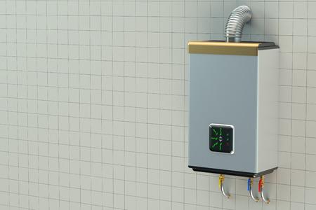 gas boiler: Home gas boiler, water heater Stock Photo
