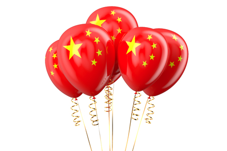 declaration of independence: China patriotic balloons, holyday concept