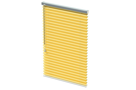blinds: golden blinds isolated on white background