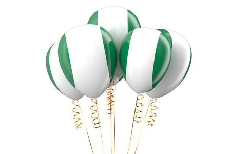 independence day: Nigeria patriotic balloons, holyday concept