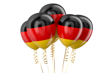 independence day: Germany patriotic balloons, holyday concept