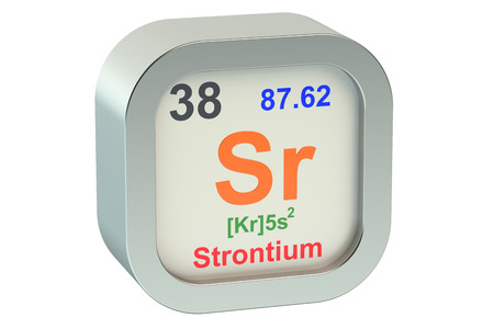 strontium: Strontium element symbol  isolated on white background