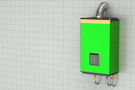water heater: Green home gas-fired boiler, water heater