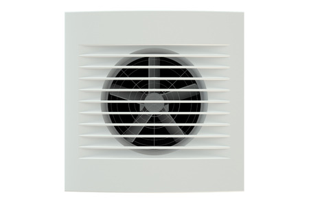 kratka: Extractor Fan, Ventilation Grille isolated on white background