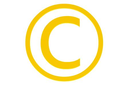copyright symbol: Copyright symbol isolated on white background