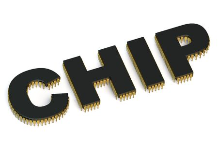 multicore: CHIP icon isolated on white background