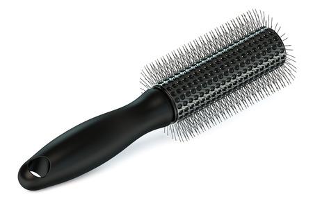 hairbrush: Hairbrush isolated on white background