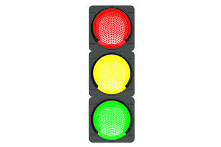 the stoplight: Traffic light isolated on white background Stock Photo