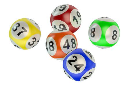 bingo: bolas de la lotería aislados en fondo blanco