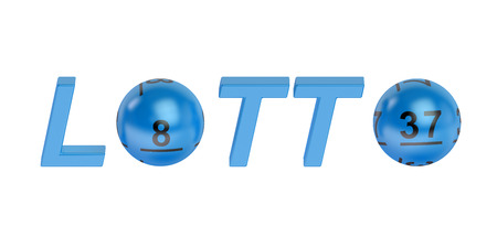 lotto: Lotto concept on lottery balls isolated on white background Stock Photo
