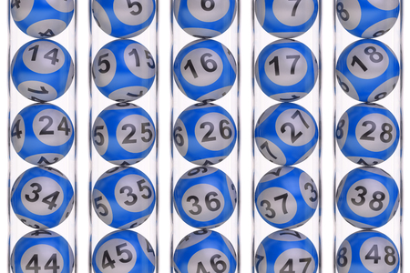 lotto: Set of blue lottery balls, lotto concept