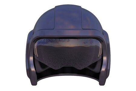 flight helmet: American Flight Helmet isolated on white background