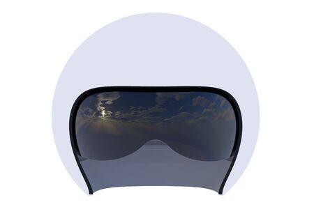 flight helmet: Flight helmet close-up isolated on white background