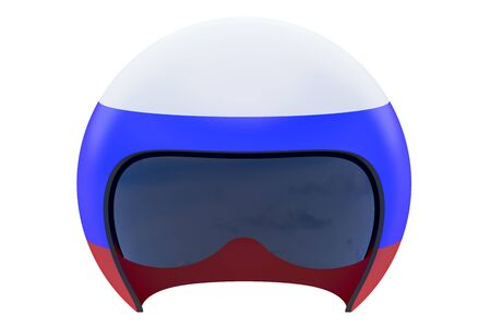 flight helmet: Russian Flight Helmet isolated on white background Stock Photo