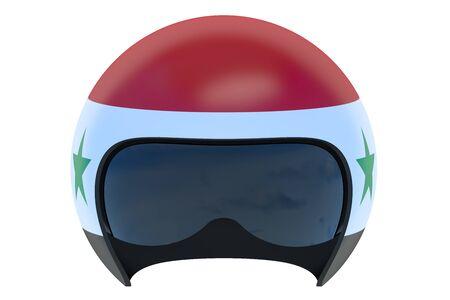 flight helmet: Syrian Flight Helmet isolated on white background