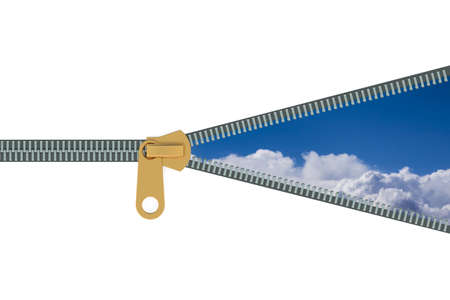 zipper: Zipper and sky