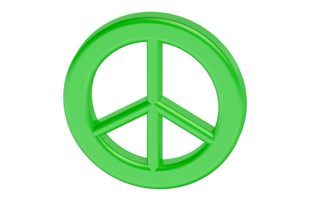 pacifism: Peace symbol isolated on white background