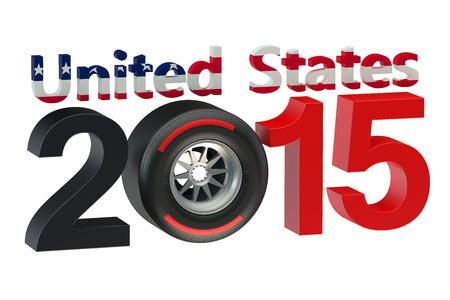 bolide: F1 Formula 1 USA Grand Prix in Austin 2015 Stock Photo