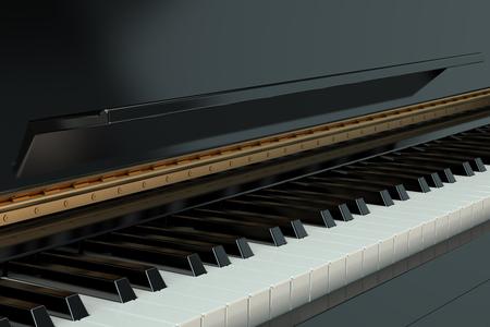 pianoforte: Piano keyboard isolated on white background