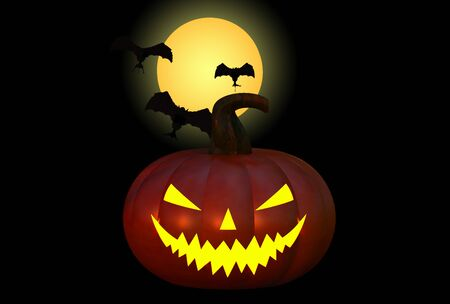 backlight: Halloween concept