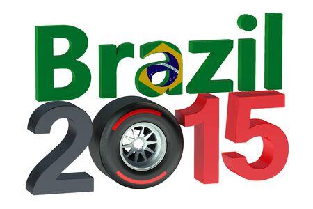 bolide:  Grand Prix in Brazil 2015 Stock Photo