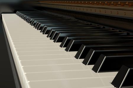 pianoforte: Piano keyboard Stock Photo