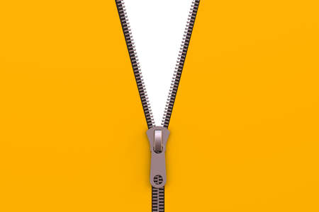 unbuttoned: zipper isolated on white background