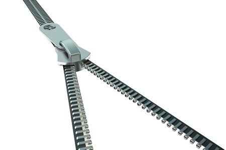 zipper: zipper closeup isolated on white background