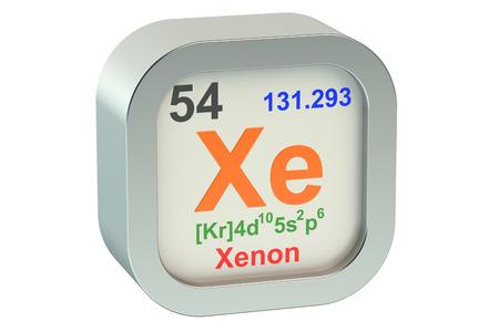 xenon: Xenon element symbol  isolated on white background