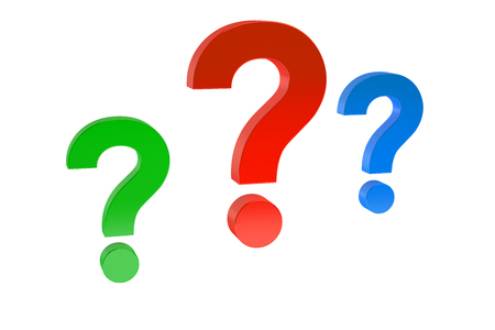 Question concept  isolated on white background