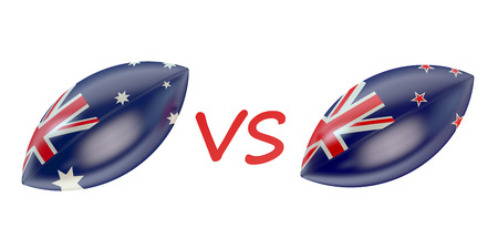 rugger: New Zeland vs Australia final Rugby World Cup 2015 concept Stock Photo