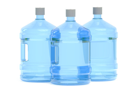 water cooler: big bottles of water  isolated on white background