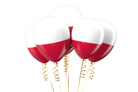 declaration of independence: Poland patriotic balloons  isolated on white background Stock Photo