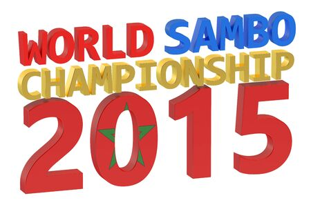 sambo: World Sambo Championship 2015 concept Stock Photo