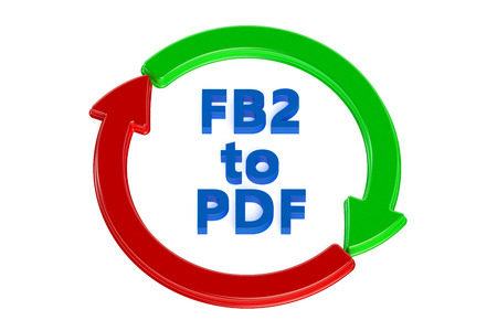 converting: converting fb2 to pdf concept isolated on white background