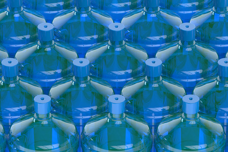 water tank: big bottles of water  isolated on white background