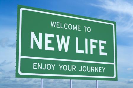 prosperidad: Bienvenido al Nuevo concepto de vida en la cartelera en carretera